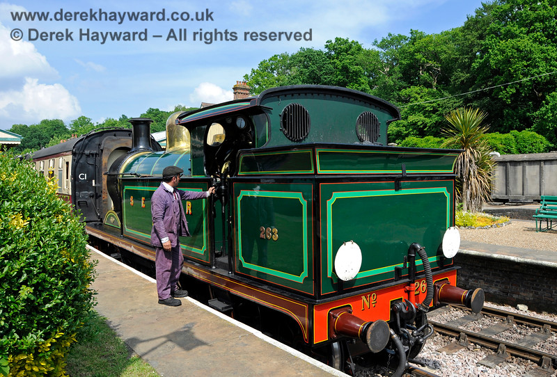 263 awaiting departure from Horsted Keynes. 28.05.2018 18506