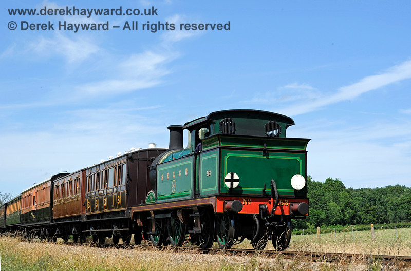 263 steaming south from New Road Bridge. 11.07.2015 11591