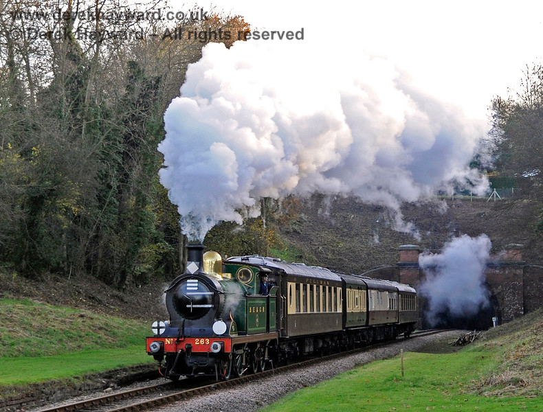 263 passes through the site of West Hoathly station. 18.11.2012 5858