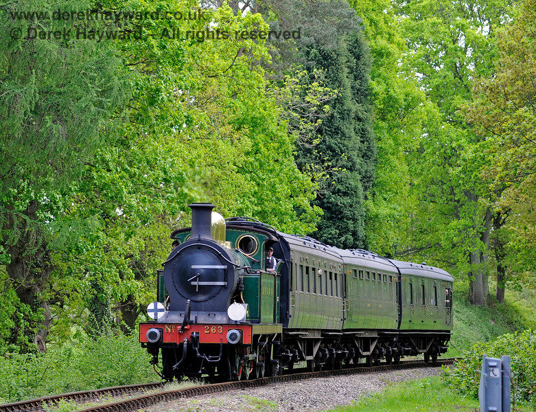 263 approaching Birch Farm foot crossing with a short service train. 14.05.2017 15264