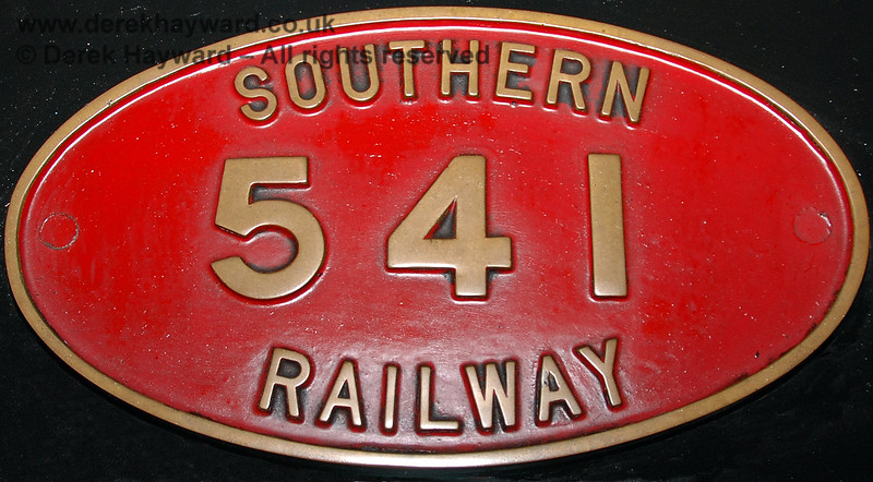 The former 541 number affixed to the engine whilst it was stored in Sheffield Park shed. 01.01.2007