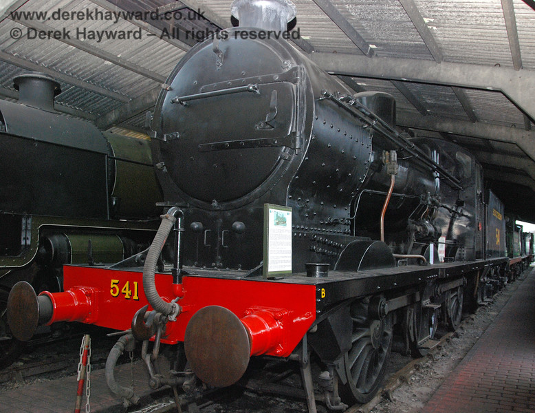 541 in store in Sheffield Park shed. 01.01.2007