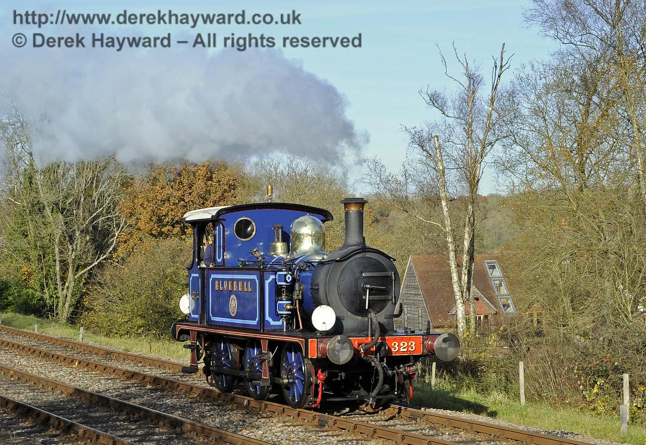 323 Bluebell runs round at Kingscote.  18.11.2012  5777