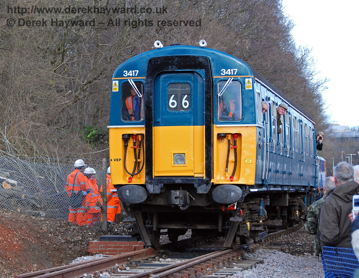 3417 Gordon Pettitt touches Bluebell metals for the first time. East Grinstead 17.01.2009  42
