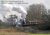 592 approaches Poleay Bridge with a Victorian Christmas train.  20.12.2013  8585