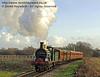 592 steams towards Ketches Halt with a Victorian Christmas train.  20.12.2013  8597