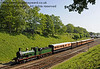 592 steams north from Horsted Keynes.  18.05.2014  10631