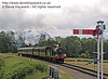592 approaches New Road Bridge with a service train.  05.07.2014  9782