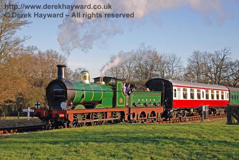 65 arrives at Kingscote. 10.02.2008  0075