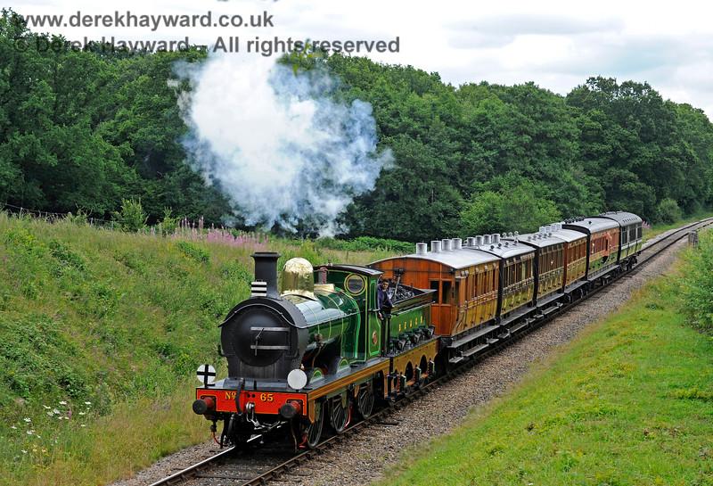 65 passes Medhurst Farm, having returned to service after overhaul. 15.07.2017 15771