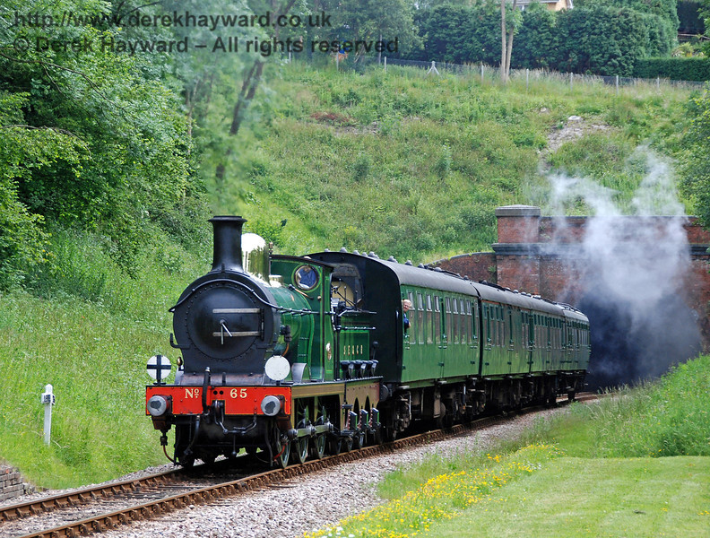 65 emerges from West Hoathly tunnel.  17.06.2009  0145