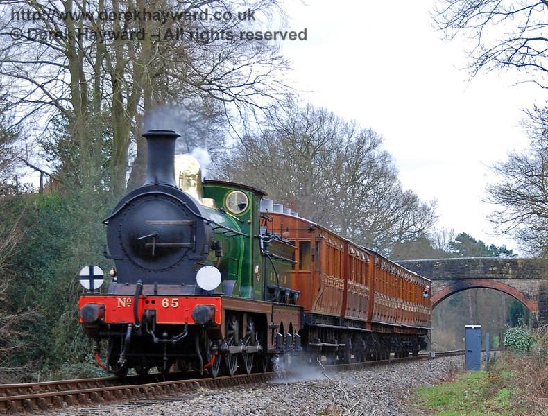 65 steams north from Birchstone Bridge.  28.01.2007