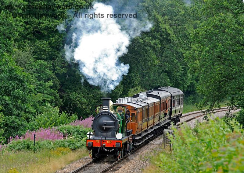 65 hauls a vintage train over Waterworks Bridge. 15.07.2017 15763
