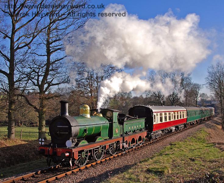 65 steams towards Three Arch Bridge. 17.02.2008  0078