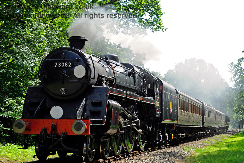 73082 Camelot approaches Birchstone Bridge. 19.08.2017 15912