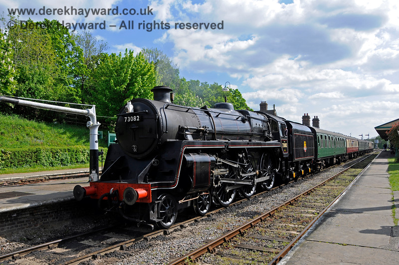 73082 stands at Horsted Keynes (without nameplates). 14.05.2016 15227