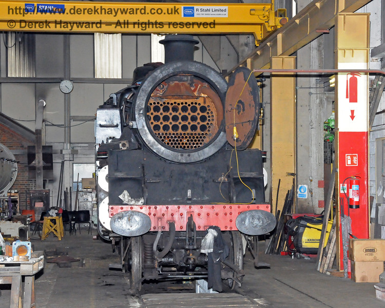 80151 in the Workshops at Sheffield Park.  12.03.2011  6276