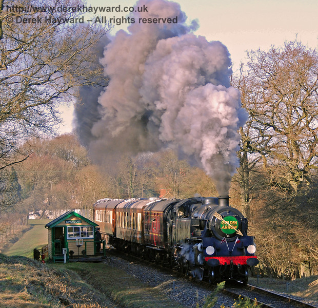 80151 generates steam effects whilst leaving Kingscote. 17.02.2008