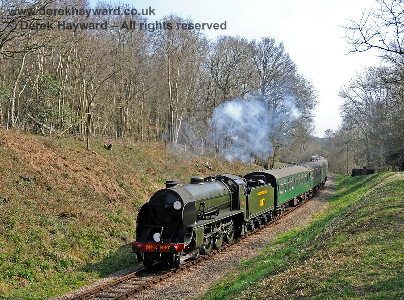 847 steams through Lindfield Wood. 06.04.2015 12102