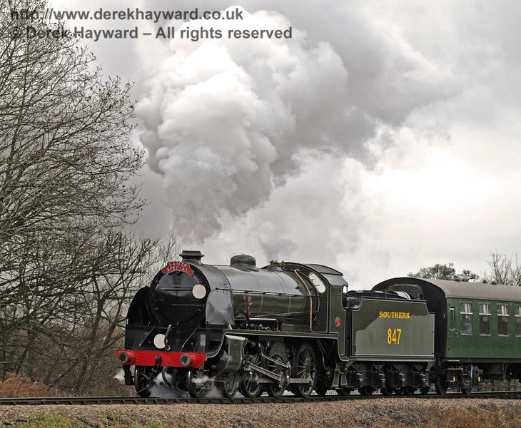 847 steams away from Sheffield Park.  14.12.2013  8503