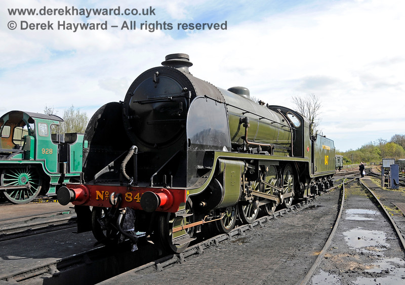 847 on shed at Sheffield Park. 19.04.2015 12349