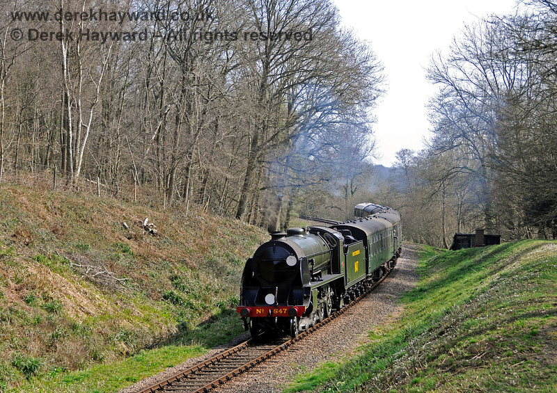 847 steams through Lindfield Wood. 06.04.2015 12100