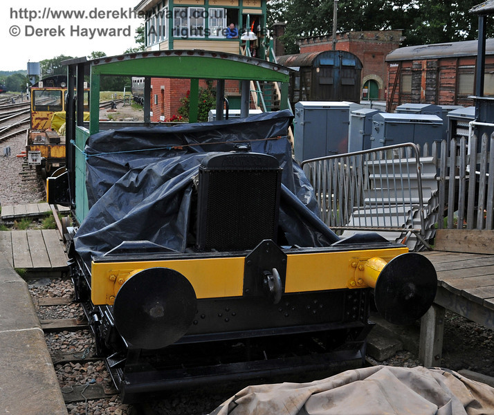Howard Petrol Locomotive 957 Britannia being made ready for service at Horsted Keynes 24.07.2010  3281