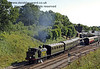 B473 steams north from Horsted Keynes, following it's return to service after repairs.  03.08.2014  9962