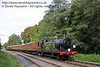 B473 steams south towards Leamland Bridge with the Victorian coaches.  05.10.2014  11634