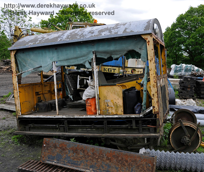 Type 18 Wickham trolley DXN68001.00 is currently out of service in Horsted Keynes Down yard.   25.05.2015   12677