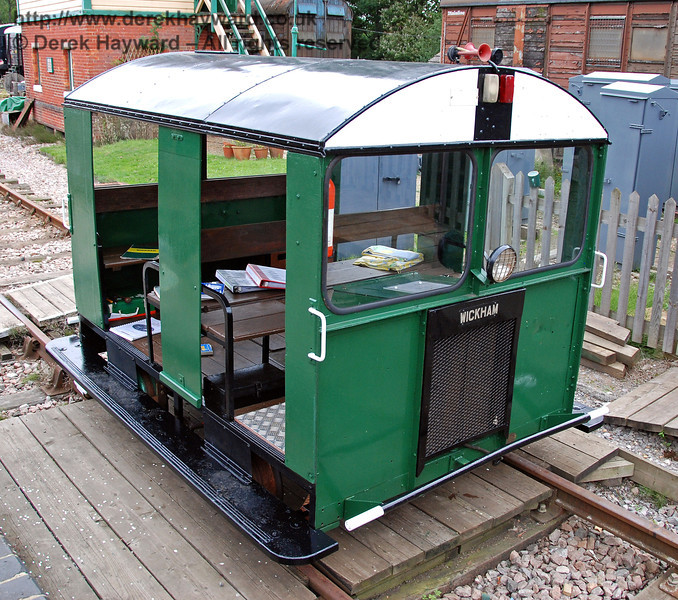 The Type 27 Wickham trolley DX68066 following restoration. Horsted Keynes 15.08.2009  (This unit has subsequently left the railway and in July 2014 was reported to be at the Lavender Line).
