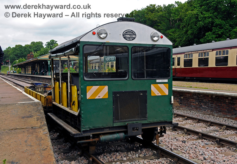 Type 18 Wickham trolley DXN68001.01 in service at Horsted Keynes. 25.06.2017 17422