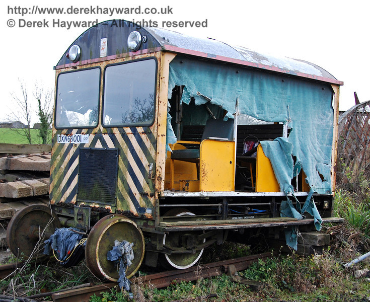 Type 18 Wickham trolley DXN68001.00 is currently out of service in Horsted Keynes Down yard. 01.12.2009