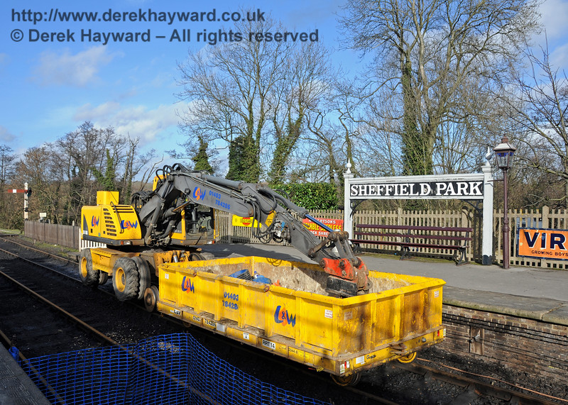 One of the very useful L&W road railers and trailer at Sheffield Park.  o3.20.2011  5668