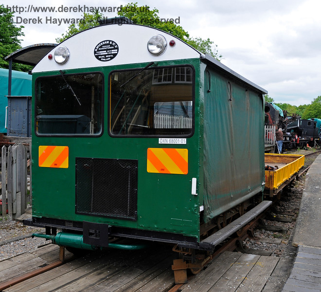 Newly restored Type 18A Wickham trolley DXN68001.01 at Horsted Keynes.  25.05.2015   12670