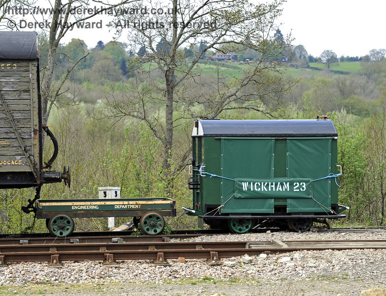 The Type 27 Wickham Trolley at Horsted Keynes.  16.04.2011  0898   (This unit has subsequently left the railway).