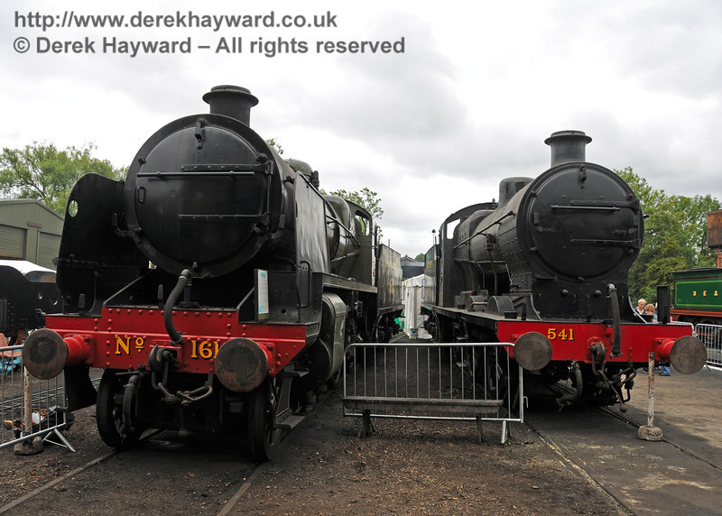 1618 and 541 have a rare opportunity to pose in the daylight outside Sheffield Park Shed. 06.08.2010  3584