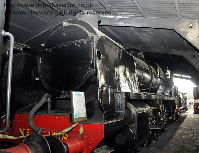 1618 inside Sheffield Park Shed in new black livery.  12.02.2011  5907
