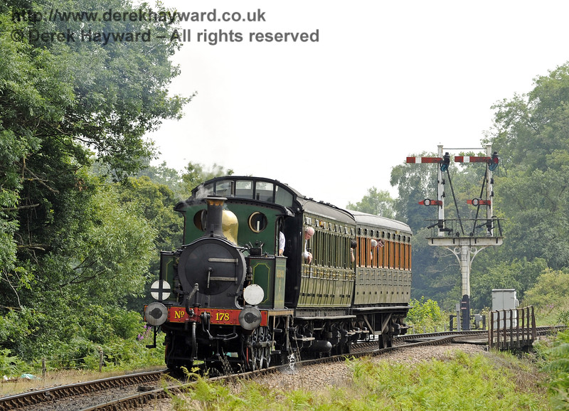 178 steams north from Poleay Bridge with a relief train.  12.07.2014  9875