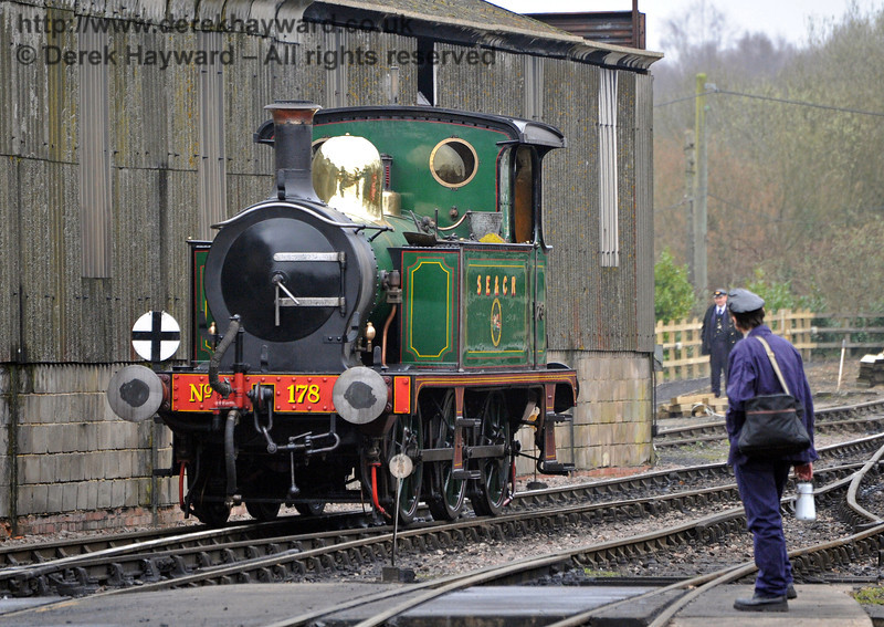 178 on shed at Sheffield Park.  13.03.2011  0332