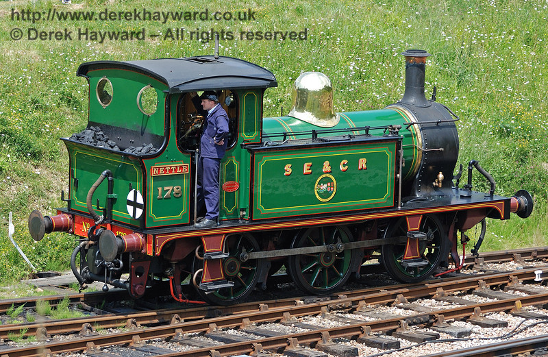 """178 at Horsted Keynes during a Family Fun Day.  At the time the engine was carrying """"Nettle"""" nameplates.  26.06.2010  2880"""