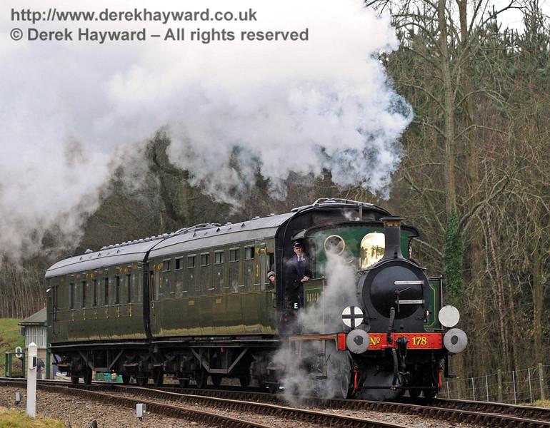 178 arrives at Kingscote.  06.02.2011  30068