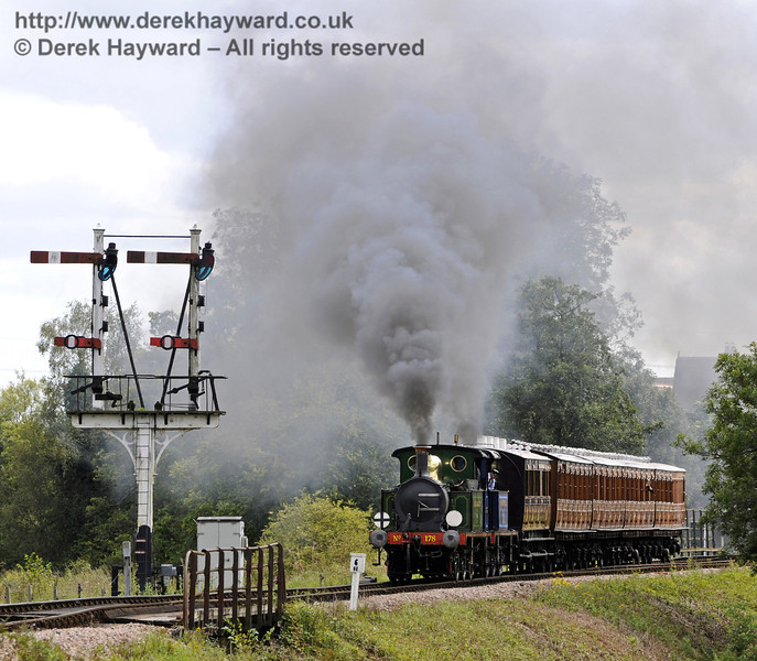 178 and 323 leave Sheffield Park with a service train.  29.08.2011  7513