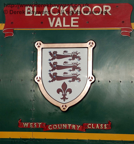 The original Blackmoor Vale nameplate on 21C123. 10.03.2007