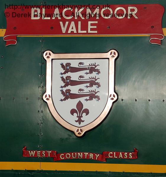 The original Blackmoor Vale nameplate on 21C123. 10.03.2007
