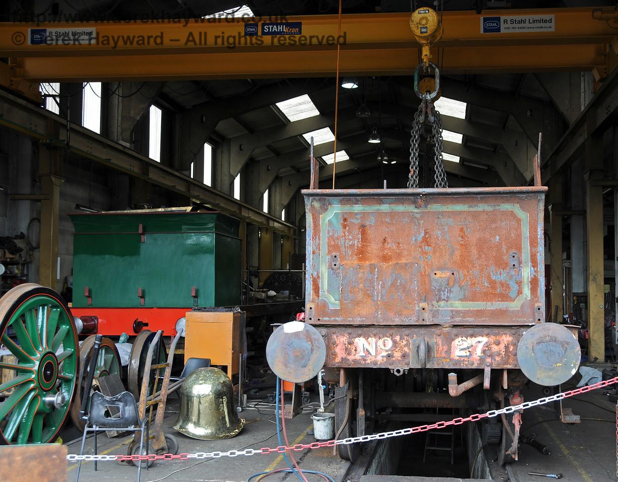 27 inside Sheffield Park Workshops, alongside 263. 07.07.2010  3025