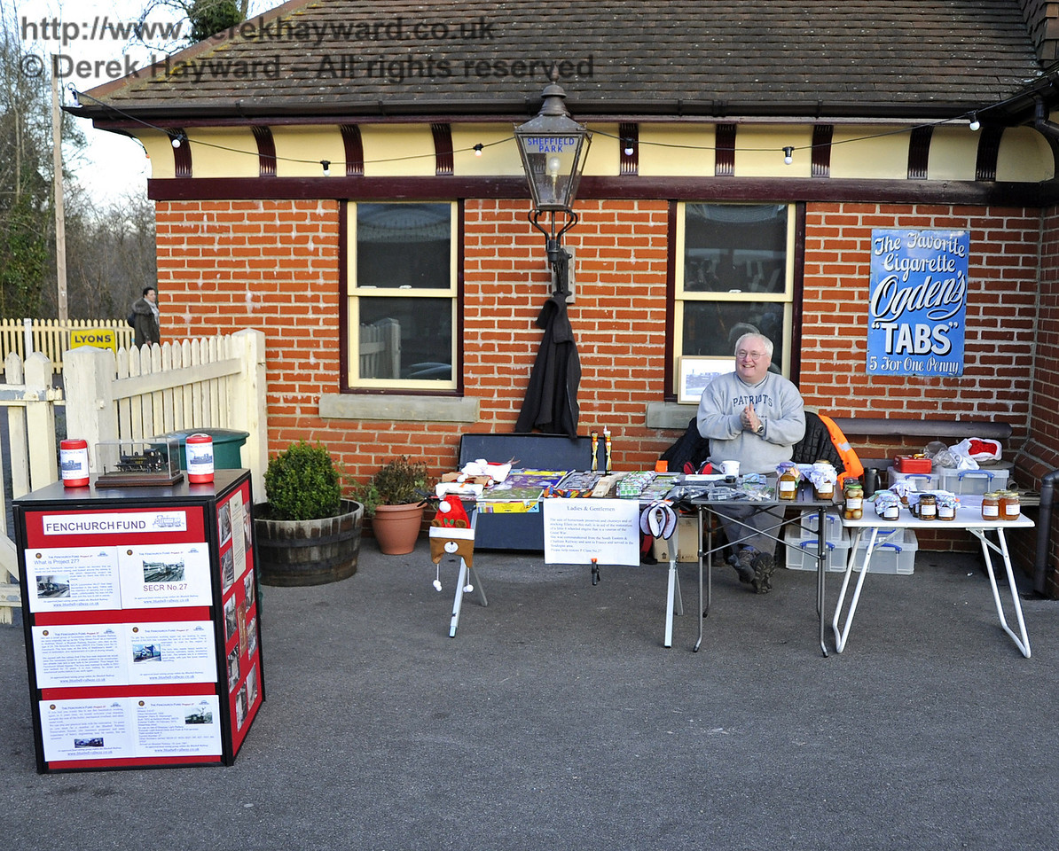 The Fenchurch Fund stall at Sheffield Park, raising money to help to restore No.27  10.12.2011  3339