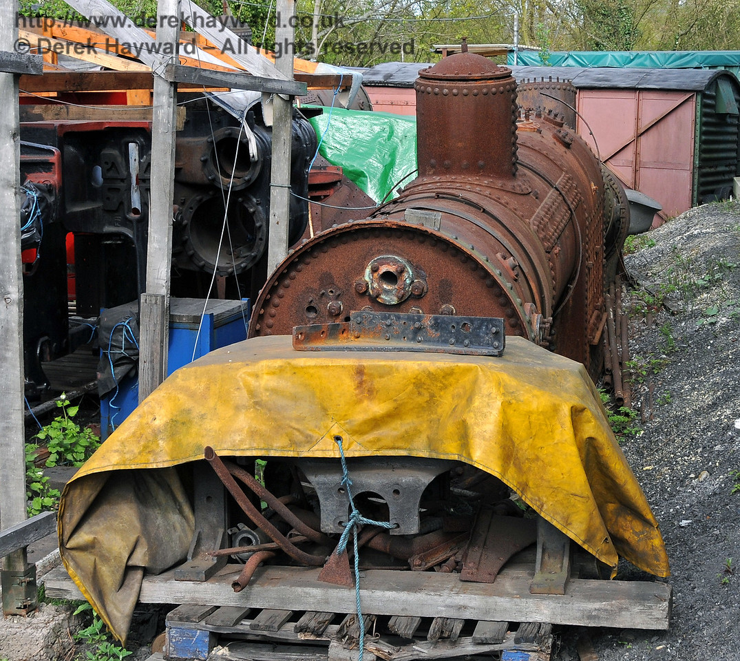 The railway has two spare boilers, but it is understood that both are likely to be life-expired. Sheffield Park Shed 28.04.2010  2103