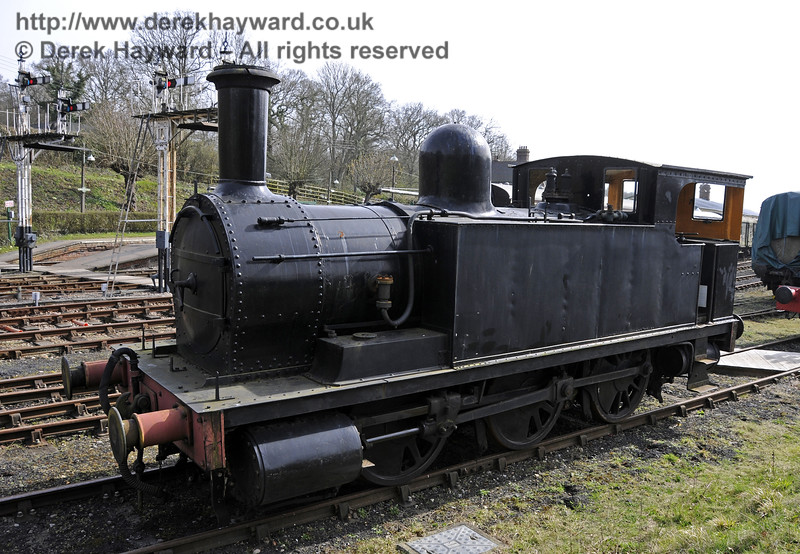 The North London Railway Goods Tank, 27505, has been transferred to Horsted Keynes for storage, and is currently in average cosmetic condition.  Since this picture was taken it has been moved to a more remote position out of public view.  10.04.2015  12159