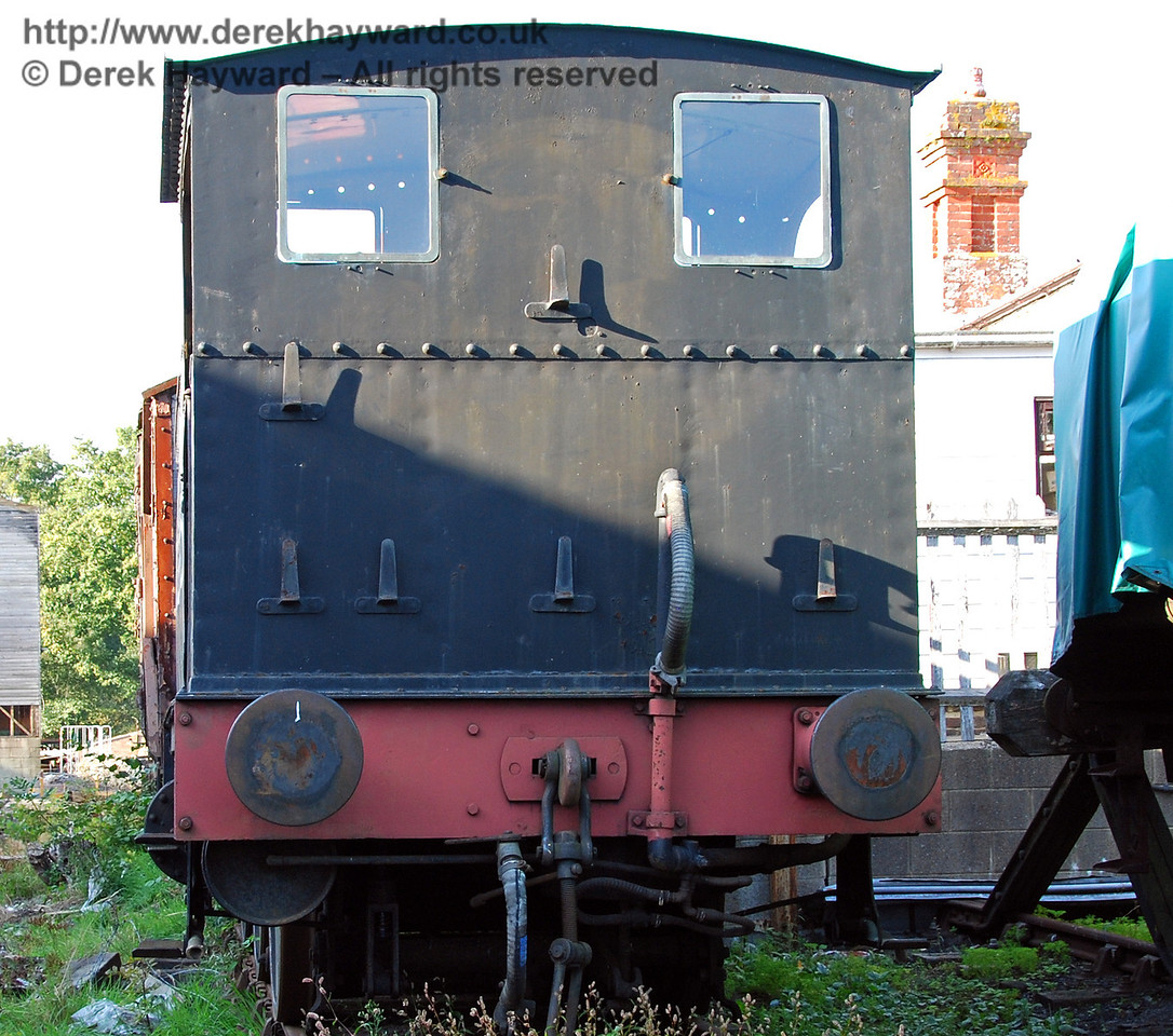 A rare view of the North London Tank, 27505, stored out of service. Sheffield Park 27.09.2009.
